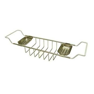 Kingston Brass CC2158 Vintage Clawfoot Bath Tub Shelf, Satin Nickel
