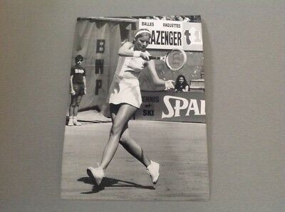 CHRIS EVERT (Roland Garros 1975)  -  PHOTO DE PRESSE ORIGINALE  13x18cm