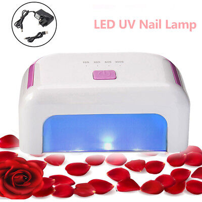 Professional 12W LED Gel Nail Polish Drying Lamp 4 Cure Presets Auto Shutoff