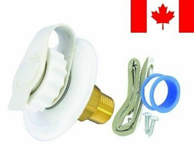 """Valterra A01-0170LFVP White 2-3/4"""" Plastic Lead-Free Flange Water Inlet"""