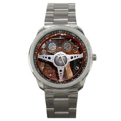 1978 MG MGB MGB ROADSTER Convertible Steering Wheel Sport Metal Watch for Gift