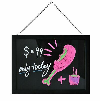 LED Fluorescent Message Board 40 x 30cm Writing Board Light Up Flashing Erasable