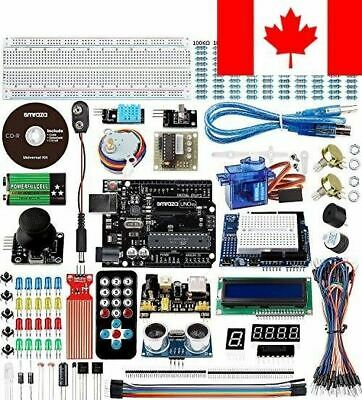 Smraza Super Starter Kit for Arduino with Tutorials, UNO R3 Board, Ultrasonic...
