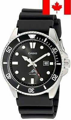 Casio Men's MDV106-1A Black Analog Anti Reverse Bezel Watch