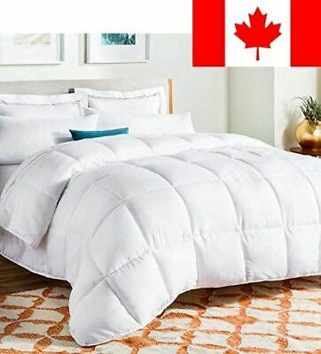 LinenSpa White Goose Down Alternative Quilted Comforter with Corner Duvet Tab...