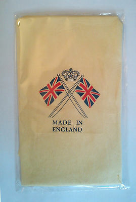 Genuine Chamois Leather Crossed Flags Quality Large 2 SqFt