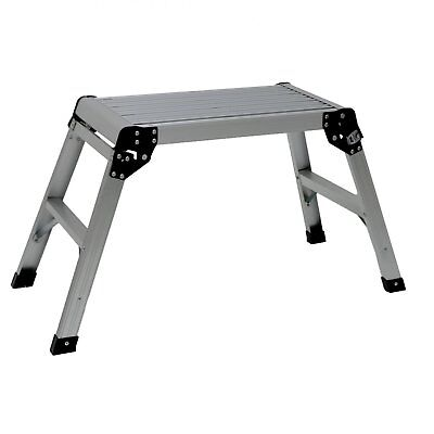 NEW! 150kg Folding Aluminium Work Platform Step Up Bench Ladder EN131