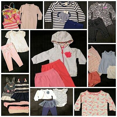 ~ x30 Lot Baby Girl Clothes Outfits Sleeper Dresses Hoodie 3-6/6-9/12Mos ~