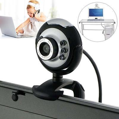 USB 6 LED 50 Mega Pixel HD Webcam Camera With MIC Microphone PC Laptop Skype X <