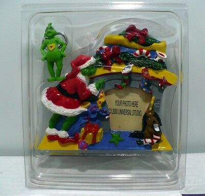 The Grinch Photo Frame.Universal Studio 2000 Grinch Stole X-Mas Frame w/stickers