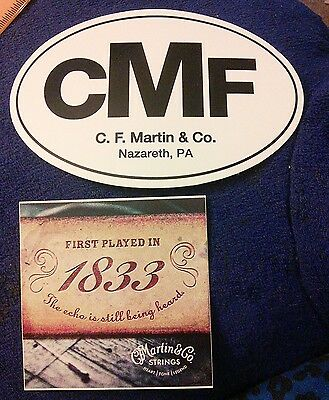 CMF CF Martin and Co. oval sticker set Martin strings 1833