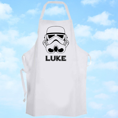 Personalised Storm Trooper Baking Cooking Apron Ideal Birthday Party Gift
