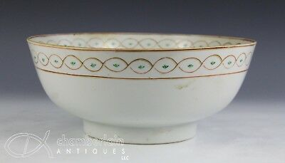 Large Antique Chinese Export Porcelain Punch Bowl For Islamic Market