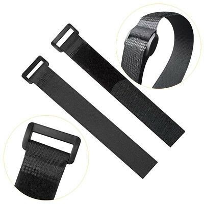 30 PCS 8-inch Reusable Fastening Cable Strap Nylon Tie With Hook and Loop Black