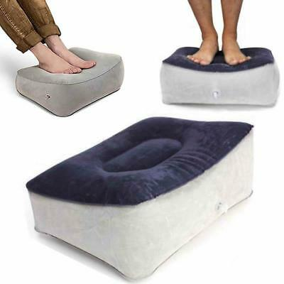 Inflatable Pillow Cushion Foot Rest Pillow for Air Travel Office and Leg Relax J