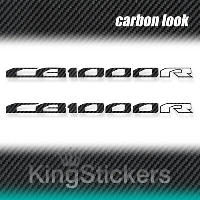 2 ADESIVI CB 1000 R HONDA  STICKERS DECAL moto CARBON LOOK carbonio