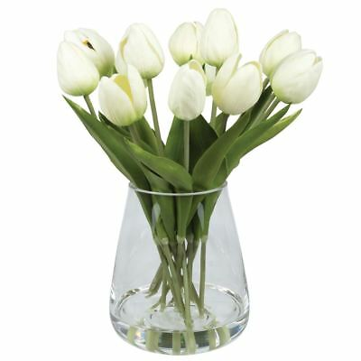NEW White Tulips In Tub Vase By Freedom