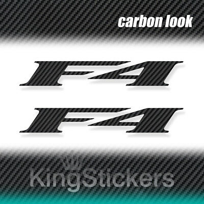 2 ADESIVI F4 MV Agusta STICKERS DECAL moto CARBON LOOK carbonio