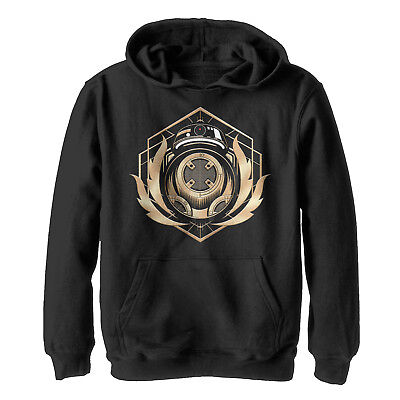 Star Wars The Last Jedi BB-9E Flames Boys Graphic Lightweight Hoodie