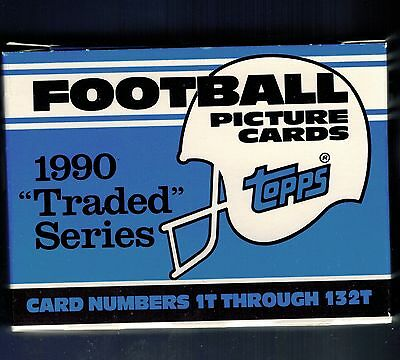 Rare White Box 1990 Topps Traded Football Set 132 Cards Emmitt Smith Rookie