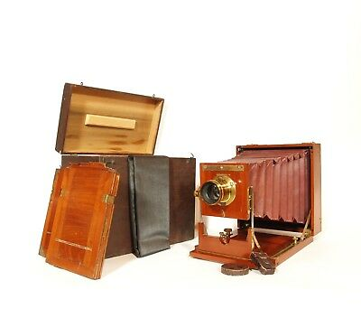 1895 American Optical Wood Plate Camera * Complete Outfit * Exceptionally Nice