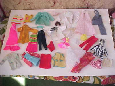 Large Group Of Vintage Doll Clothing Possibly *barbie ~ See Photos