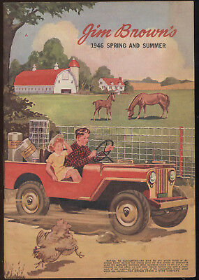 1946 Jim Brown Fence Co. Catalog, Farm Equipment, Paint, Fencing, Horse Harness+