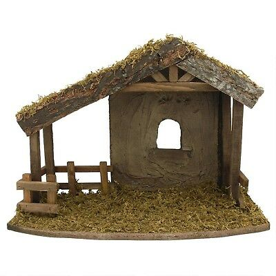 Fontanini Wooden Stable * Nativity Village Collectible 50556