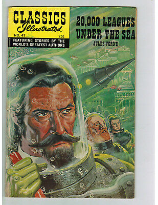 CLASSICS ILLUSTRATED COMIC No. 47 20,000 Leagues Under the Sea 25c HRN 169