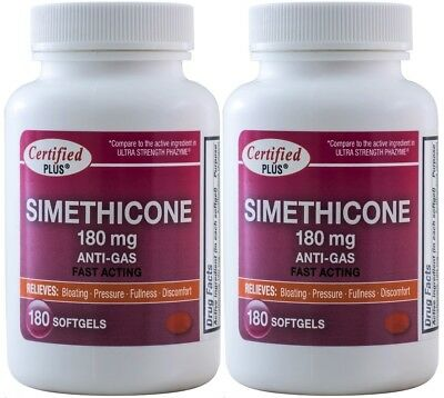 Ultra Strength Simethicone 180 mg Fast Acting Gas Relief 360 Gelcaps