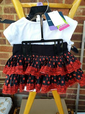 Official Disney Minnie Frilly Skirt and Top Set