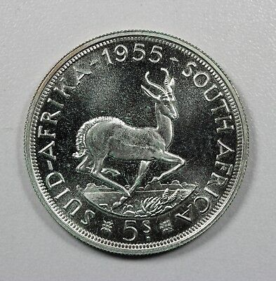 South Africa 1955 5 Shilling KM-52 Proof  (HD73)