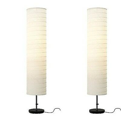 New Ikea Holmo Floor Lamp Shade Rice Paper Or 2 Pack E26 400 Lm ...