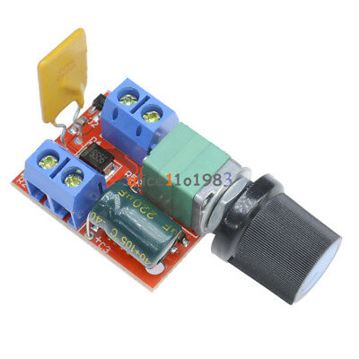 5PCS Mini DC5A Motor PWM Speed Controller 3V-35V Speed Control Switch LED Dimmer