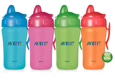 New Philips Avent Non-Spill Fast Flow Spout 340ml Cup/Bottle for 18m+ | SCF604