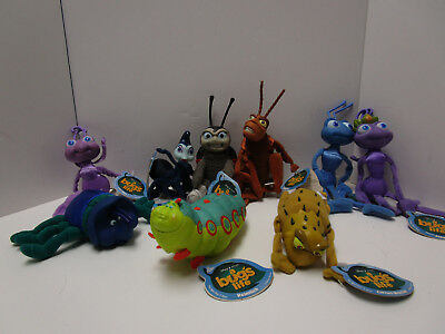 Lot Of 9 Beanbag Plush Characters From 'a Bugs Life'  New With Tags Disney/pixar