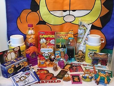 HUGE LOT of Garfield Cat Collection! Rare items, all varieties! Must see!