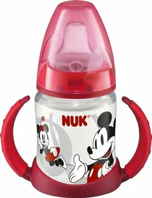 New NUK First Choice Disney Mickey/Minne 150ml Spout Learner Cup/Bottle for 6m+