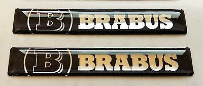 2x MERCEDES BRABUS 3D Domed Stickers. Size 60x10mm.