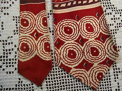 "VTG 1940's Swing Band Tie Rockabilly Eclectic Deco Collectible Necktie 48"" Long"