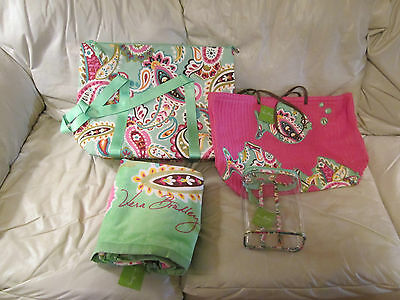 "Vera Bradley ""tutti Frutti"" Beach Items (Asst. Lot Of 4) Nwt"