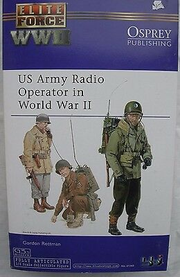 "BBI Elite Force collectable action figure 1/6 scale 12"" WW2 US ArmyRadioOperator"