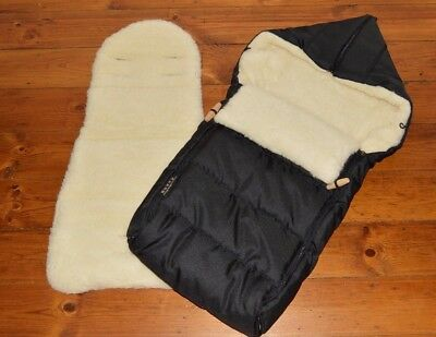 WOOLIBALOO 100% New Zealand Lambswool Pushchair Footmuff AND Pram Liner UNUSED