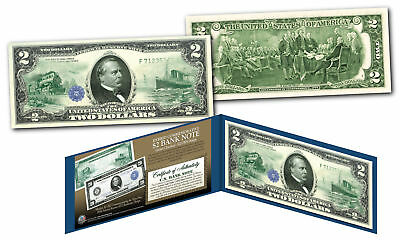 1914 Series $20 Grover Cleveland FRN designed on modern Genuine $2 U.S. Bill
