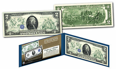 1914 Series $100 Ben Franklin FRN designed on modern Genuine $2 U.S. Bill