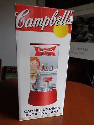 Campbell 's Soup Campbell's Diner Rotating Lamp  NIB 2002