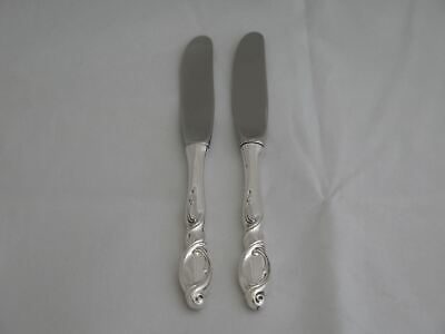 Pair of Wallace Sterling Silver Swirl Butter Spreaders
