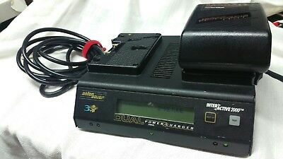 Anton Bauer DUAL POWER CHARGER INTERACTIVE 2000 SERIES PLUS BATTERY TESTED