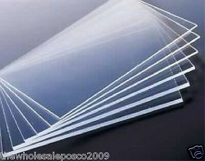 1MM CAST PERSPEX ACRYLIC PLASTIC SHEET IDEAL FOR MODEL MAKING 85mm x 150mm