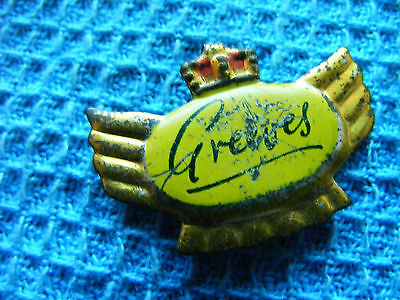 GREEVES motorcycle ...very old pin badge for lapel,hat ..Great Britain (B).